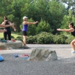 boot camp training in a park in Raleigh