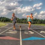 Paula Smith fitness training with kids