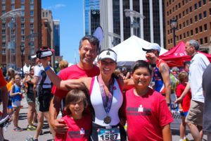 Paula Smith and family after a run in Raleigh