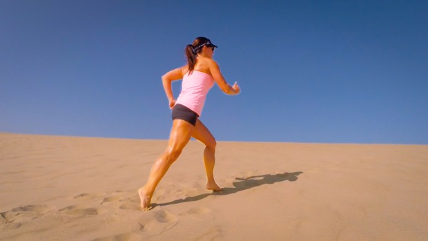 Image result for running on the beach is hard work